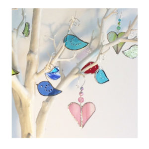 mini glass birds & pretties
